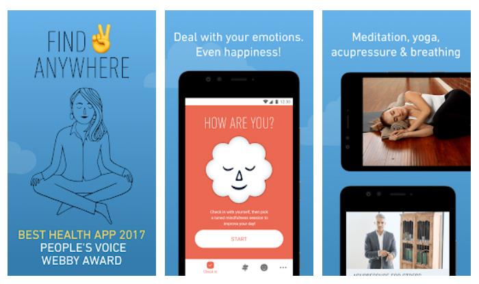 Apps de meditación - Stop, breathe & think
