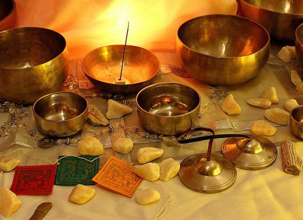 Meditación con cuencos tibetanos - Portada