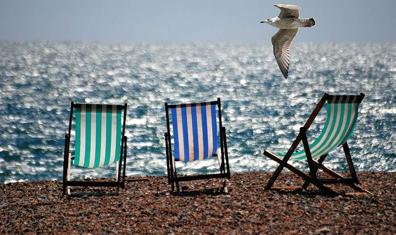 Meditar en vacaciones - Playa