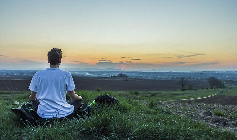 Meditar en vacaciones - Portada