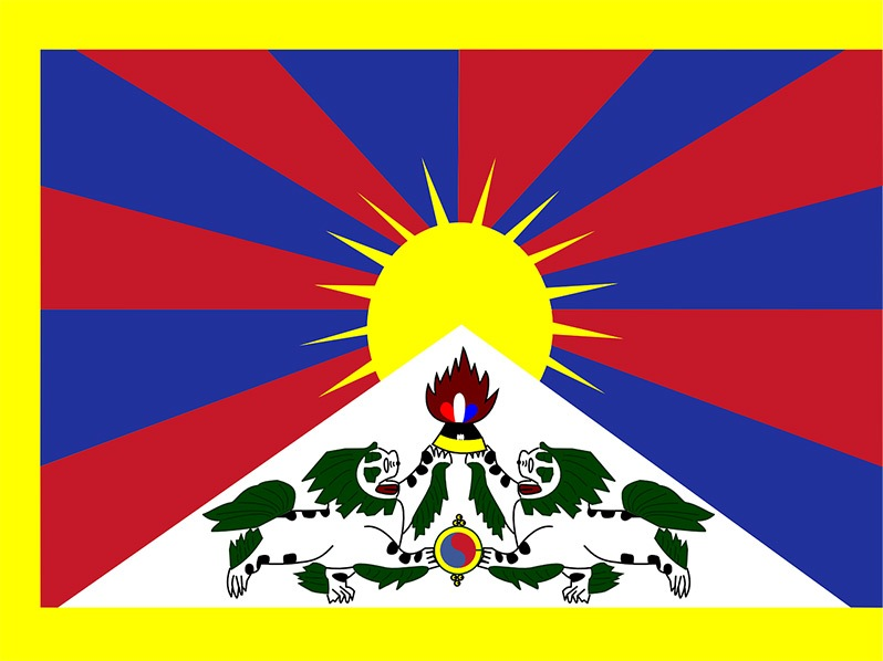 Conoce mejor el Tíbet, una de las cunas de las Japa Malas - Bandera Tíbet Independiente