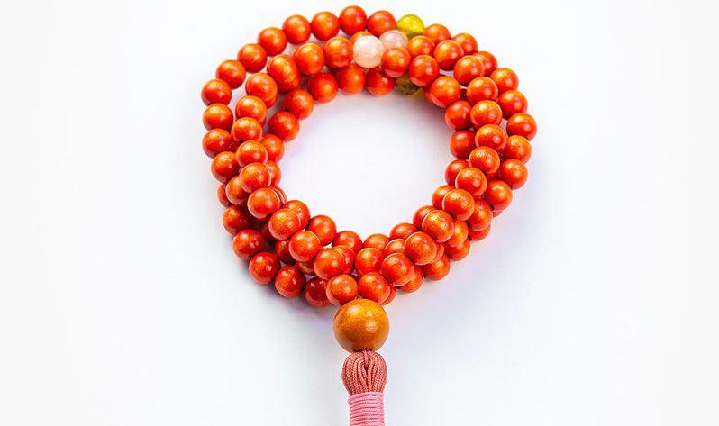 Japa Malas de madera - Naranja