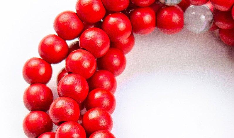 Japa Malas de madera - Roja