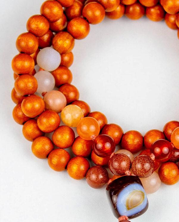 japamala Madera Roja Mix Naranja detalle