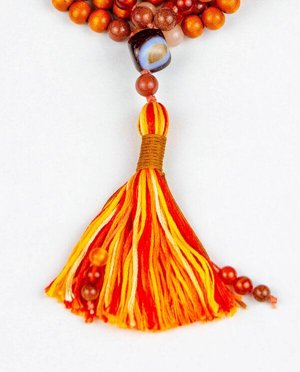 japamala Madera Roja Mix Naranja tassel