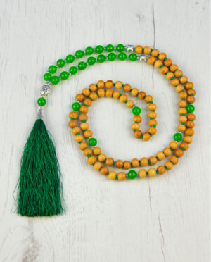 Sandalwood & Green Onyx stone
