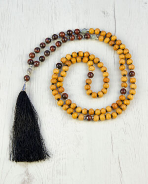 Sandalwood & red tiger eye stone