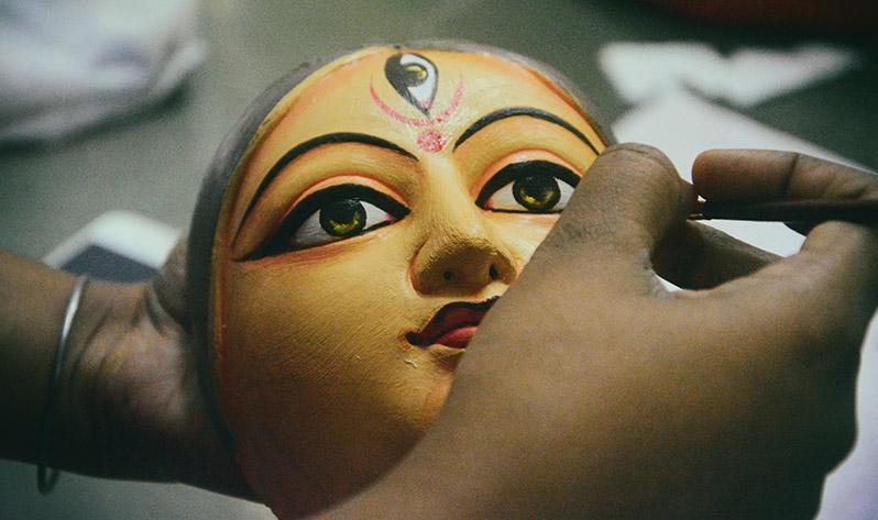 Durga, la diosa hindú que nos ayuda a sacar nuestra fuerza interior - Creación máscara
