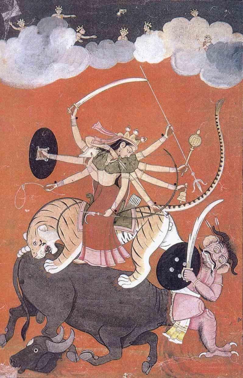 Durga, la diosa hindú que nos ayuda a sacar nuestra fuerza interior - Pintura