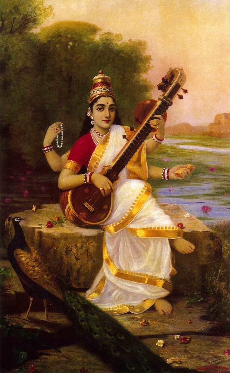 Sarasvati, la diosa del conocimiento que guía nuestro aprendizaje - Representación