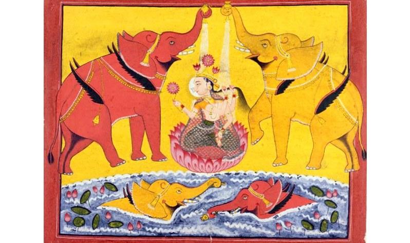 Laksmí, la Diosa Madre de la prosperidad espiritual y material - Gajalakshmi
