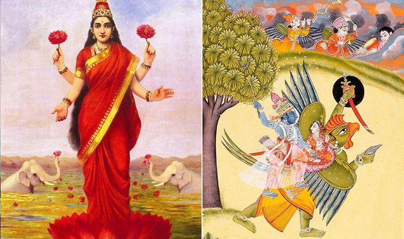 Laksmí, la Diosa Madre de la prosperidad espiritual y material - Laksmí y Vishnú