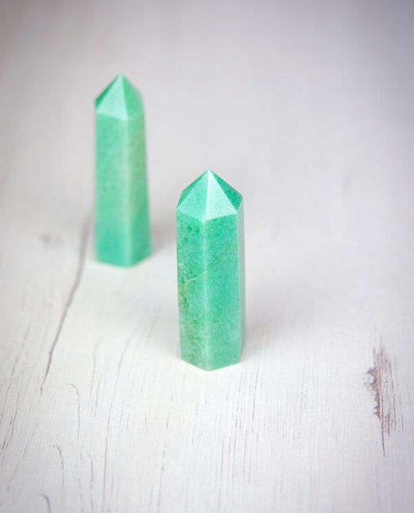 puntas generadoras de cuarzo natural dongling jade aumjoia