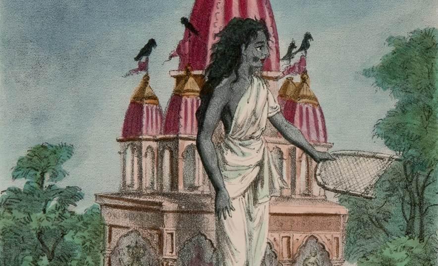 Dhumavati, la diosa que nos enseña a superar la pérdida y el vacío - Dibujo