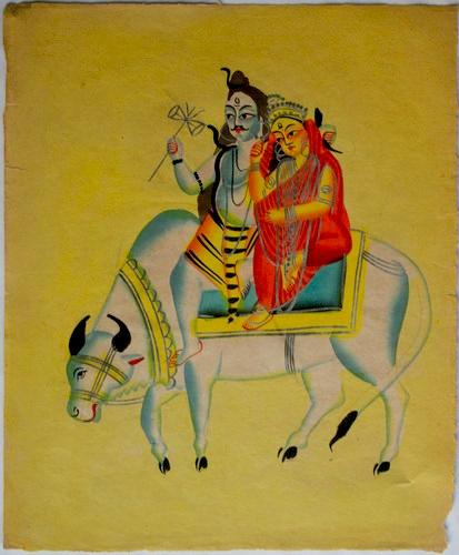 Parvati, la Diosa Madre de la fertilidad que equilibra el mundo - Parvati y Shiva sobre vaca