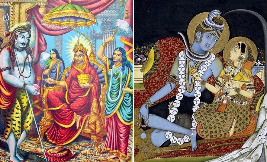 Parvati, la Diosa Madre de la fertilidad que equilibra el mundo - Collage imágenes