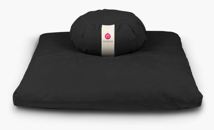Conoce los nuevos accesorios de meditación y yoga de Aumjoia - Zafu y zabuton negro