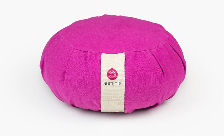 Conoce los nuevos accesorios de meditación y yoga de Aumjoia - Zafu púrpura