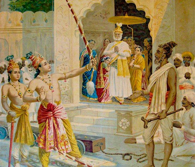 Sita, diosa de la abundancia, ejemplo de fortaleza y virtud femenina - Arco