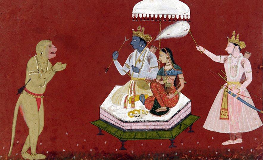 Sita, diosa de la abundancia, ejemplo de fortaleza y virtud femenina - Hánuman