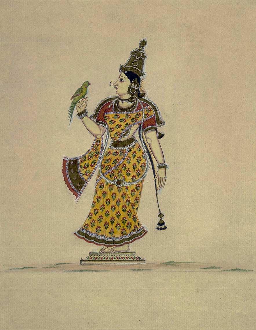Meenakshi, la diosa guerrera que ganó el trono y el amor de Shiva - Ilustración