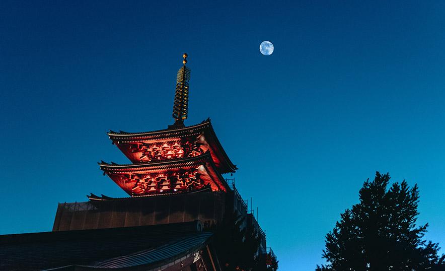 Meditar con la energía de la Luna: una experiencia poderosa (Pagoda)