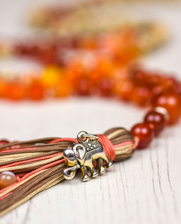 Japa Mala Ganesha aumprana - Om Gam Mantra detalle colgante