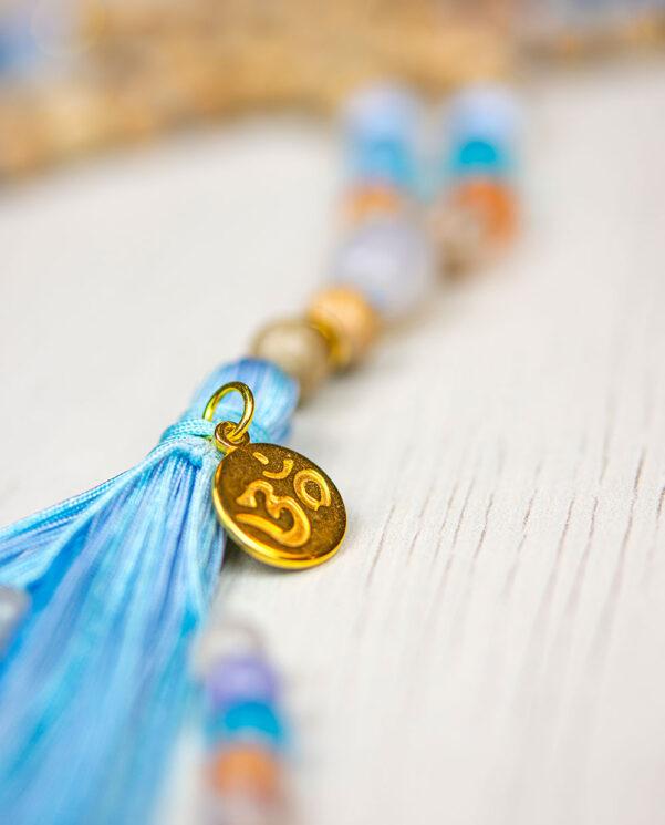 Japa Mala Om Shiva aumprana - Om Namah Shivaia Mantra detalle colgante